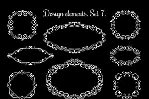 Hand drawing ornamental frames