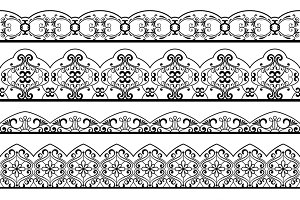 Ornate vintage line border set