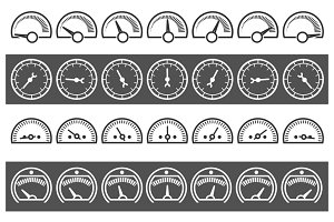 Fast control meter icons