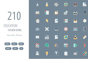 210 Education Flat Paper icon