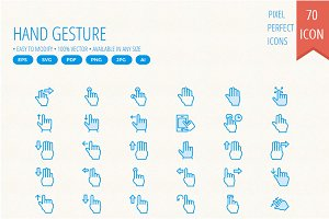 50+ Hand Gesture Cute icons