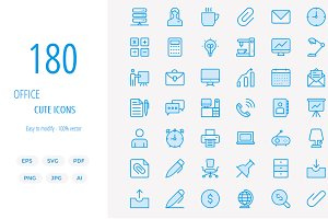 180 Office Cute icons