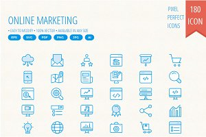 Online Marketing Cute icons