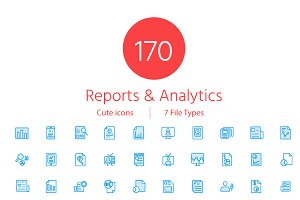 150+ Reports & Analytics Cute icons