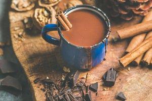 Rich winter hot chocolate