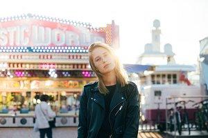 Model at carnival festival fair