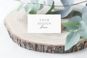 "Place Card Mockup 3,5"" x 2"""