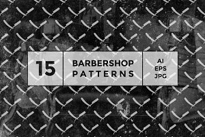 Barbershop seamless patterns