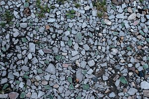stones on ground background and texture form with a rocky surface