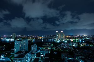 Bangkok city at night.