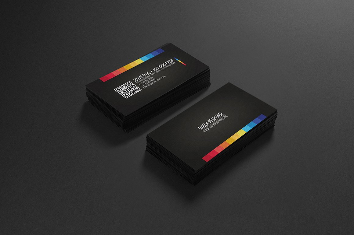 Quick response business card design ~ Business Card Templates ...