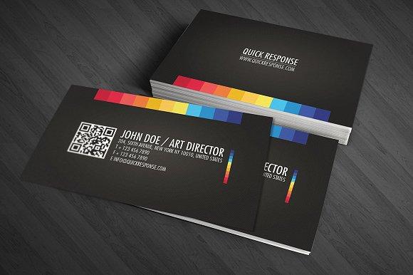 Quick response business card design business card templates quick response business card design business card templates creative market colourmoves