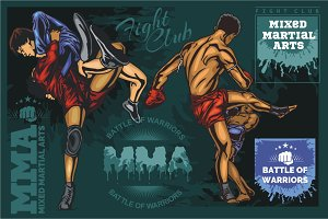 Mixed Martial Arts - vector designs.