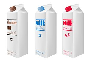 Milk cartons with screw cap