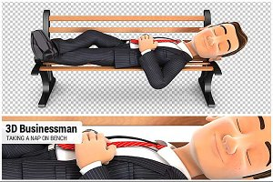 3D Businessman Taking a Nap