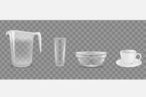 Transparent dishware