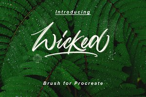 """Wicked"" Brush Pen for Procreate"