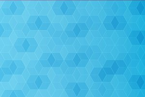 Abstract blue polygon template