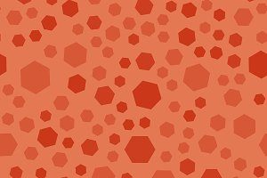 Orange polygon seamless pattern