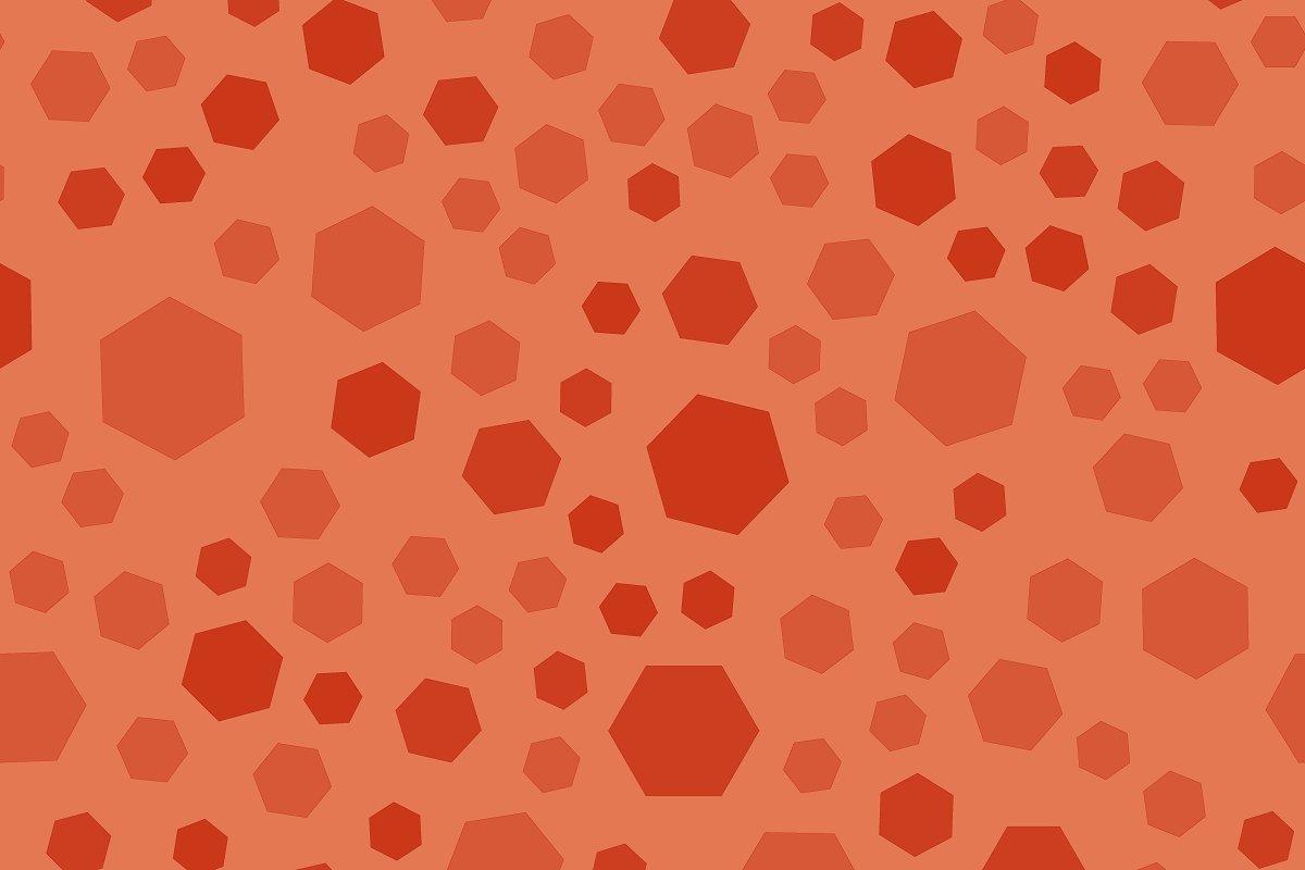 Orange polygon seamless pattern