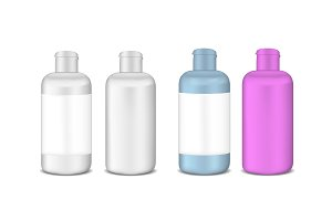 Plastic lotion bottle template