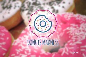 Donuts Logo +free font