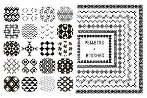20 Patterns + 7 Pattern Brushes