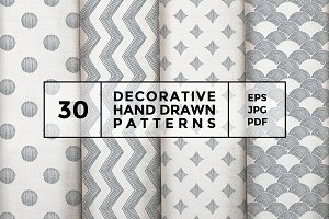 Decorative hand drawn patterns