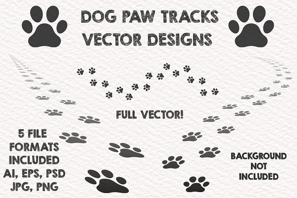 c33f1d74bfc8 Dog Paw Seamless Patterns ~ Illustrations ~ Creative Market