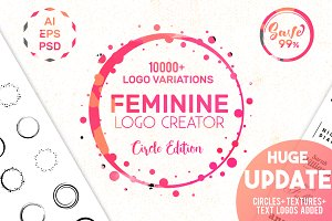 Feminine Logo Creator Kit - Circle