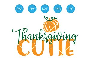 Thanksgiving Cutie SVG EPS DXF PNG