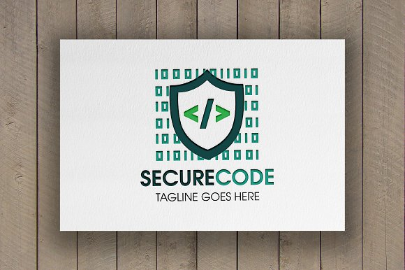 Secure Code Logo in Logo Templates