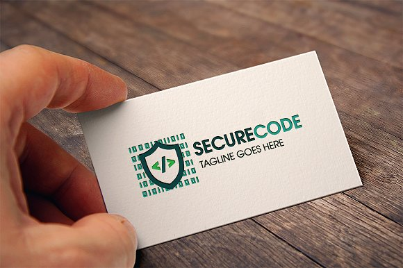 Secure Code Logo in Logo Templates - product preview 1