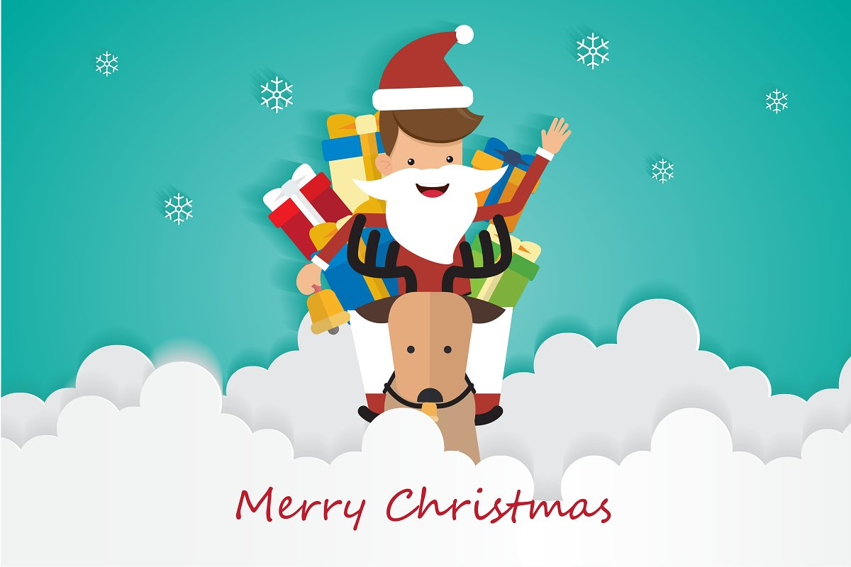 1501bc2296e95 Merry Christmas Santa Claus ~ Illustrations ~ Creative Market