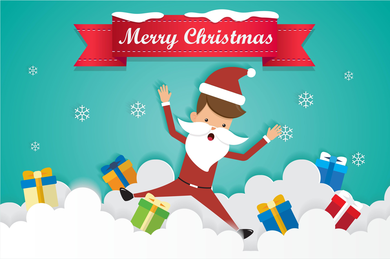 Christmas santa claus and gift illustrations creative market m4hsunfo