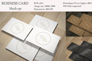 Business card mockup. Mini pack.