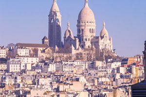 Sacre-Coeur Basilica in the morning, Paris, France