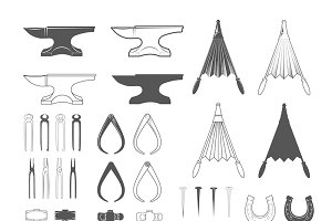 Blacksmith Tools.