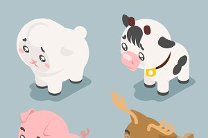 3d cute baby animals