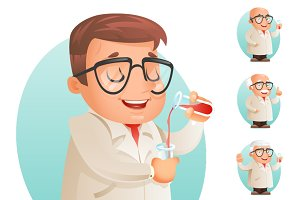 Scientist with Test-tube Icon