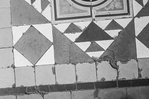 Vintage Ancient Tile Floor