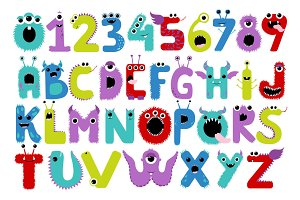 Monster Letters & Numbers