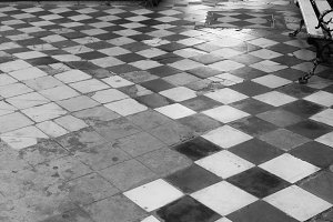 Vintage Floor in Black and White