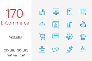 Shopping & e-commerce Cute icons