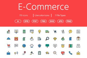 170 Shopping & e-commerce Color icon