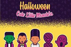 Halloween Cute Little Monsters
