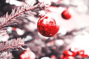 Blurry retro Christmas tree