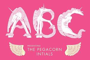 Pegacorn Initials