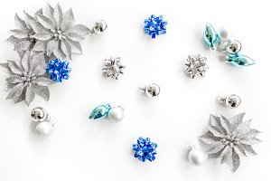 Blue Christmas Styled Stock Photo