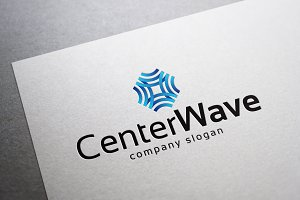 Center Wave Logo